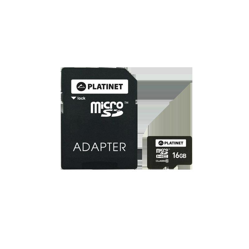shoppi - PLATINET microSDHC + ADAPTER 16GB CLASS 10