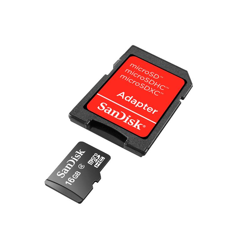 shoppi - Carte Mémoire SDHC SANDISK 32Go avec adaptateur