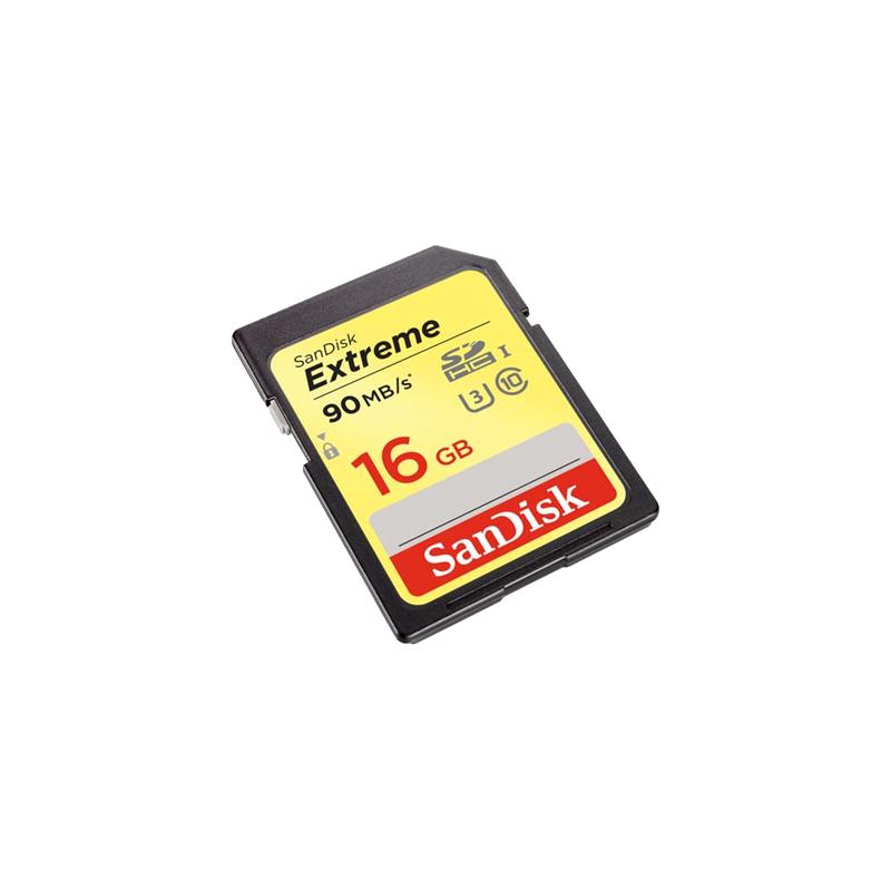 shoppi - CARTE MÉMOIRE SDHC/SDXC UHS-I SANDISK EXTREME 16GB