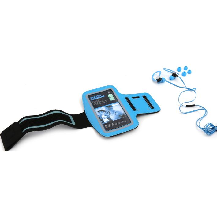 shoppi - Ecouteur in-ear avec armband et mic sport