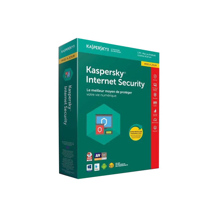 shoppi - Antivirus KASPERSKY INTERNET SECURITY 2018 - 1 AN / 3 PC