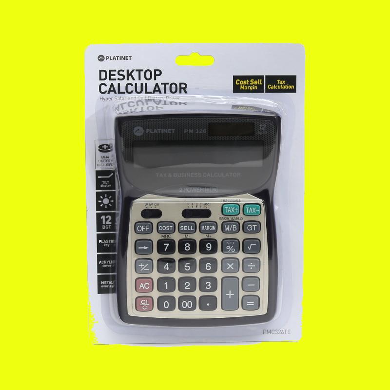 shoppi - Calculatrice de bureau PLATINET 12 CHIFFRES