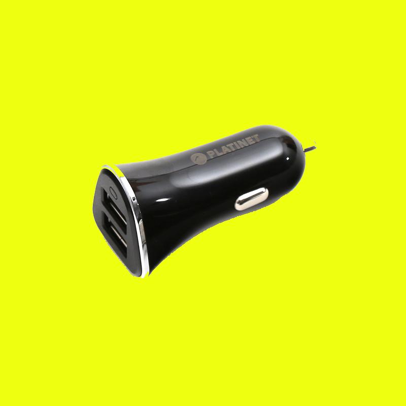 shoppi - CHARGEUR DE VOITURE PLATINET 2xUSB 3,4A + câble microUSB