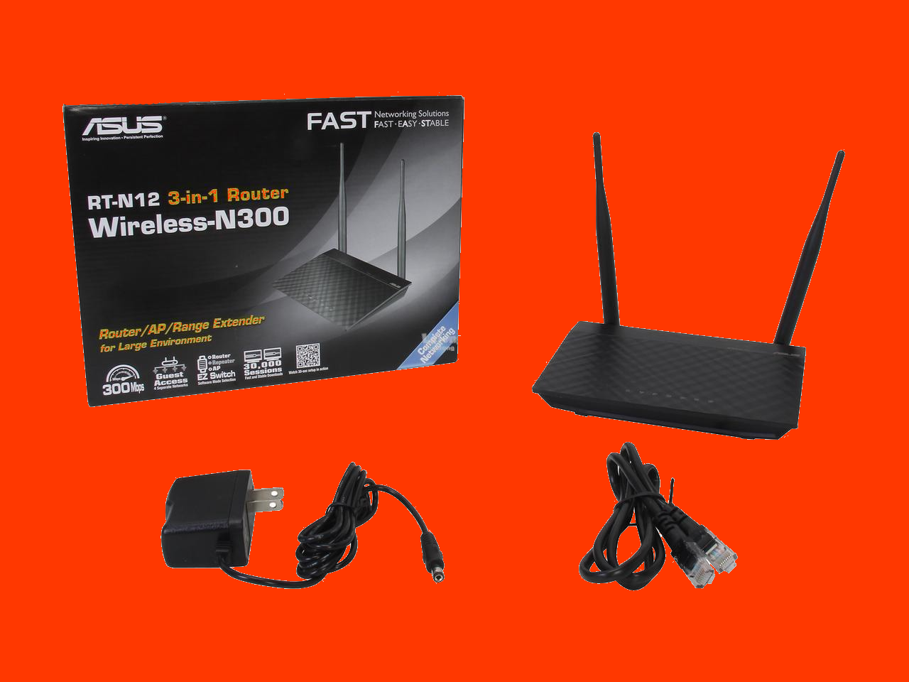 shoppi - Routeur ASUS WiFi N300 4RJ