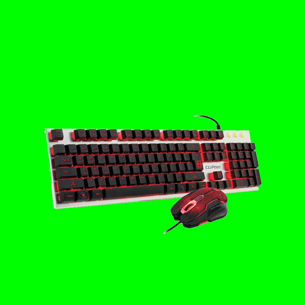 shoppi - Ensemble clavier et souris CLiPtec ZAKINAT-KOM USB éclairés Gaming RGK700