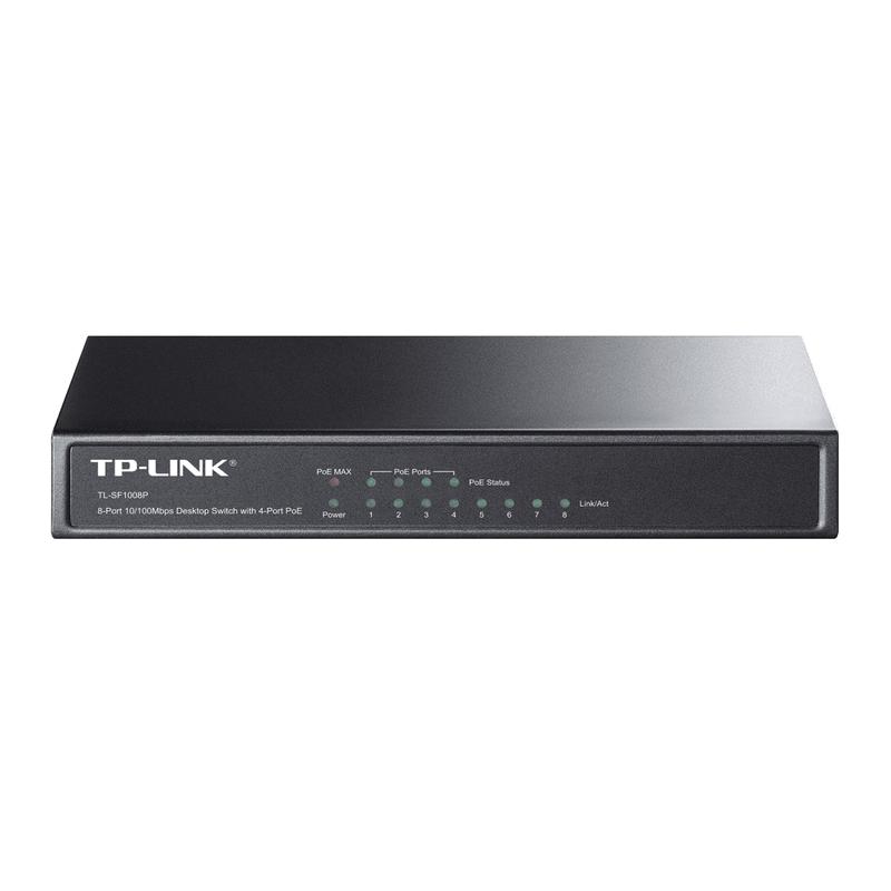 shoppi - Switch de bureau 8 ports 10/100 Mbps - 4 ports PoE