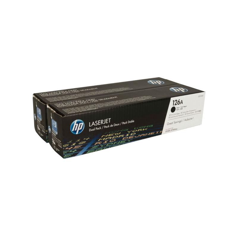 shoppi -  Pack de 2 toners LaserJet noir HP 126A