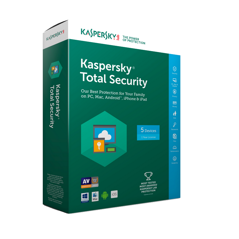 shoppi - Antivirus Kaspersky Total security 2018 5 postes un an