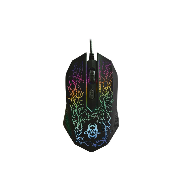 shoppi - Souris GAMER Illuminated  CLiPtec LIGHTNING 2400dpi RGS501