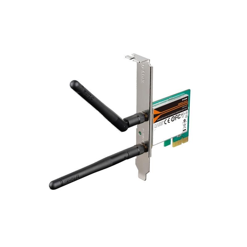 shoppi - Cle WIFI de PC de bureau PCIe sans fil N 300 D-LINK DWA-548-EU