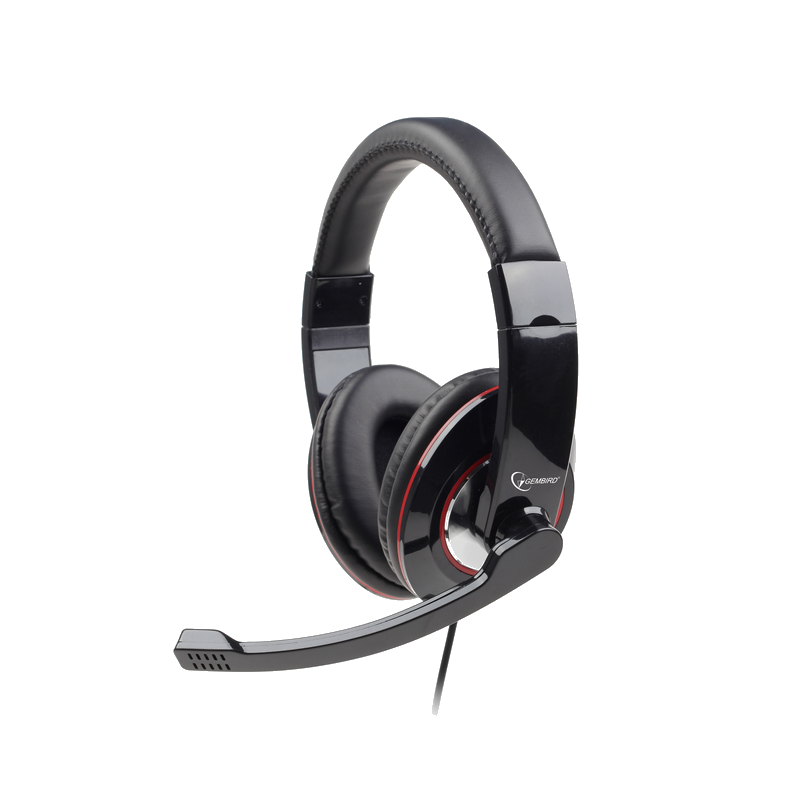 shoppi - Casque GEMBIRD stéréo USB, noir brillant