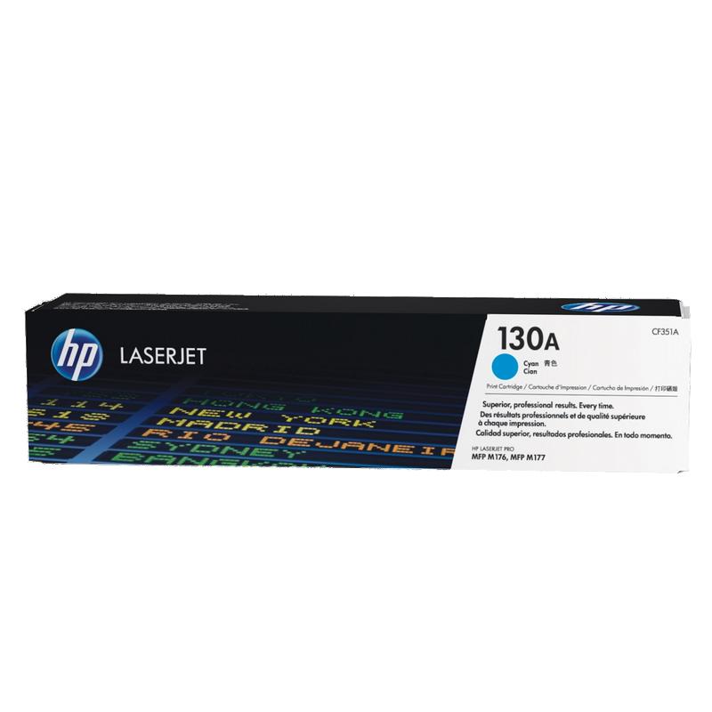 shoppi - Cartouche de toner cyan d'origine HP LaserJet 130A