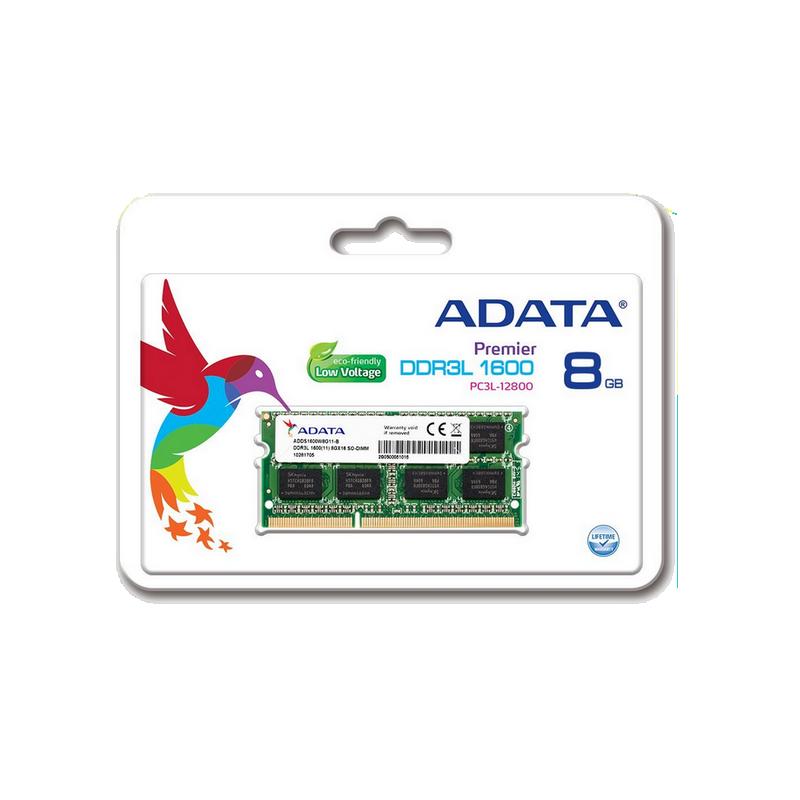 shoppi - Barrette Mémoire Adata 8 Go DDR3 L3