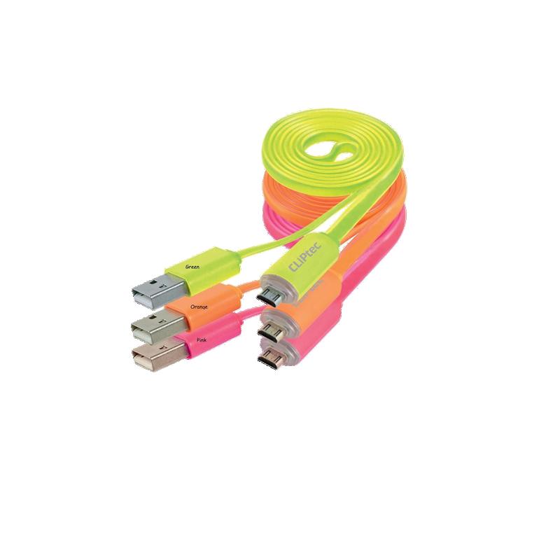 shoppi - Câble Plat CLIPTEC USB 2.0 pour SMARTPHONE FAST