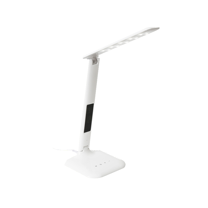 shoppi -  Lampe de bureau LED PLATINET avec une horloge et une station météo.