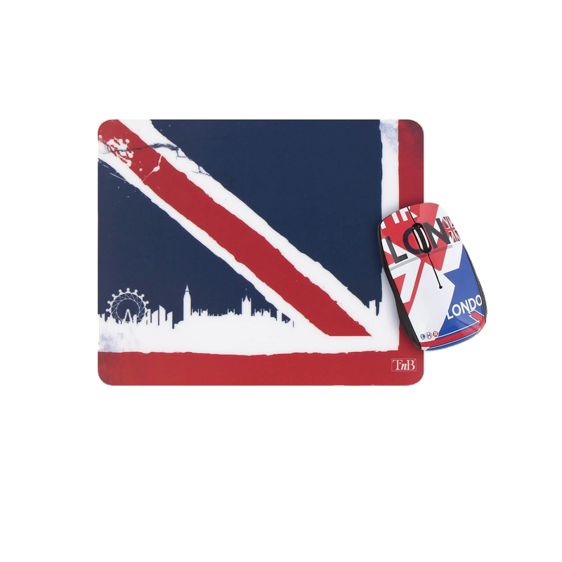 shoppi - Ensemble souris sans fil et tapis de souris UK T'nB