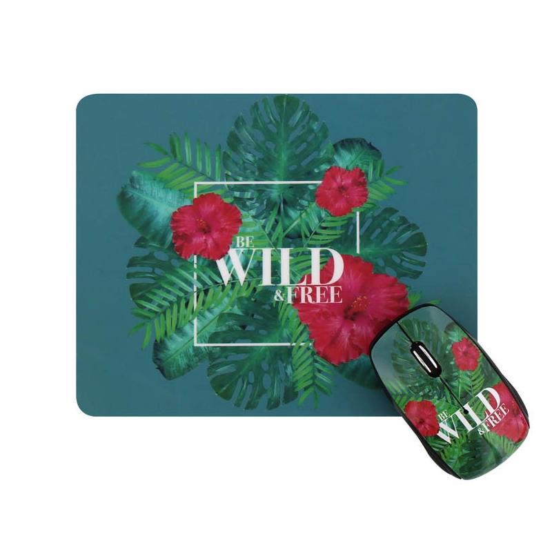 shoppi - Ensemble souris sans fil et tapis de souris WILD T'nB