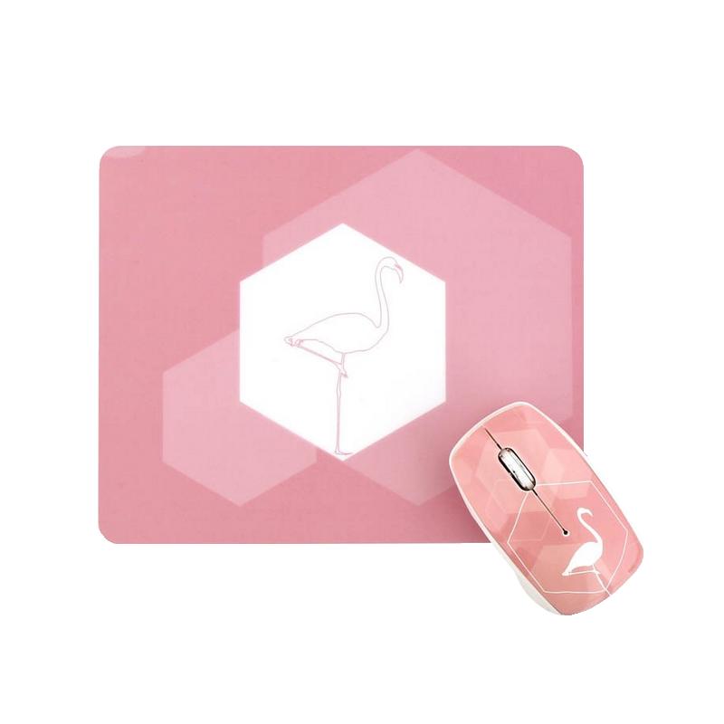 shoppi - Ensemble souris sans fil et tapis de souris FLAMINGO T'nB