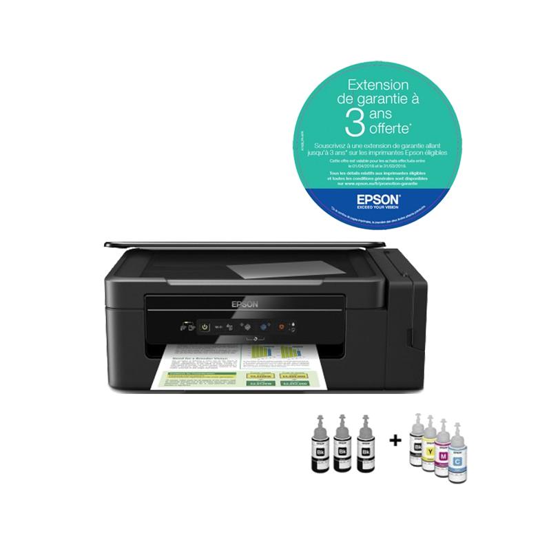 shoppi - Imprimante EPSON ECO TANK L3060 3 EN 1 Avec WIFI et 6 bouteilles d'encres