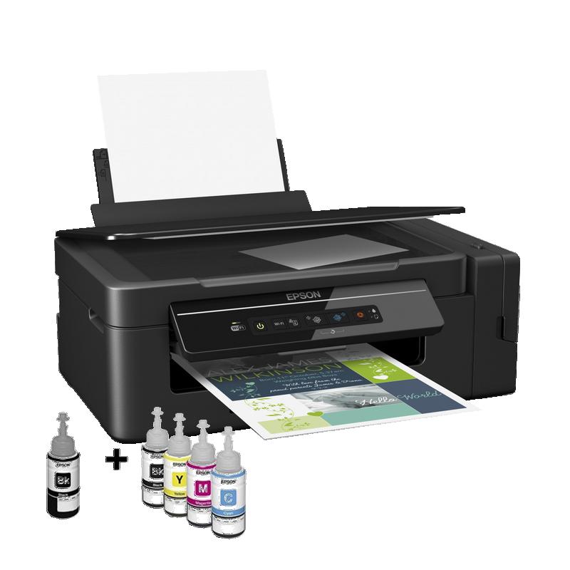 shoppi - Imprimante Jet encre EPSON à réservoir intégré ECO TANK L4160 3 EN 1 Avec WIFI