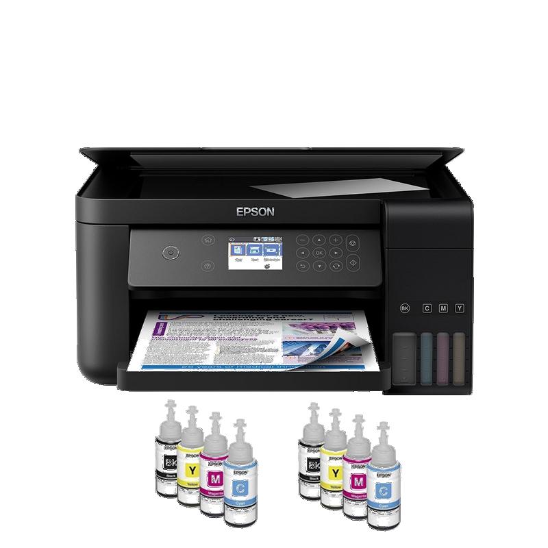 shoppi - Imprimante Jet encre EPSON à réservoir intégré ECO TANK L6160 3 EN 1 Avec WIFI