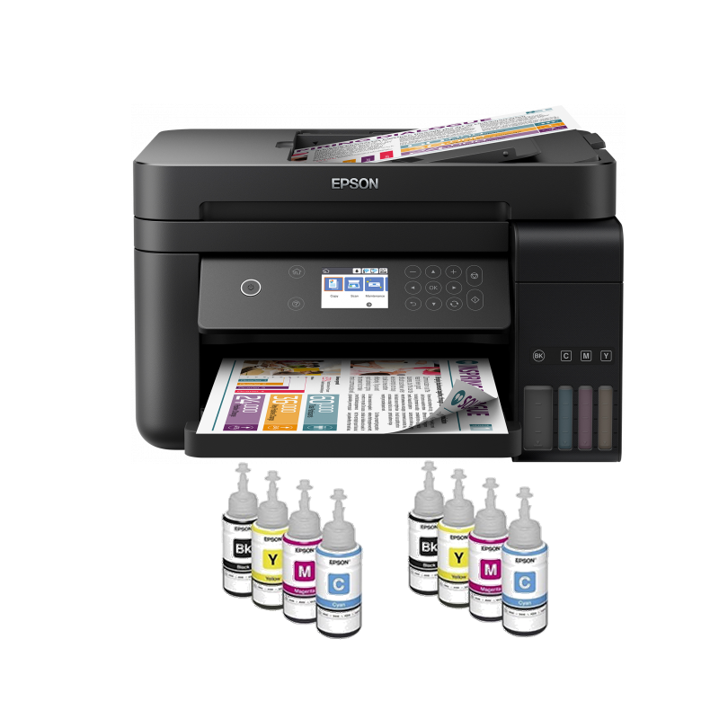 shoppi - Imprimante Jet encre EPSON à réservoir intégré ECO TANK L6170 3 EN 1 Avec WIFI