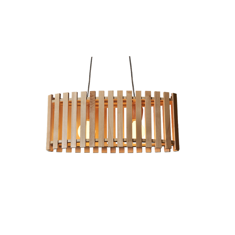 shoppi - Lustre Moderne ovale en bois