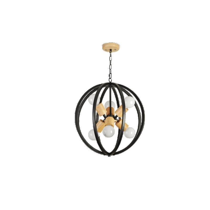 shoppi - Lustre Loft circulaire avec chêne En Bois