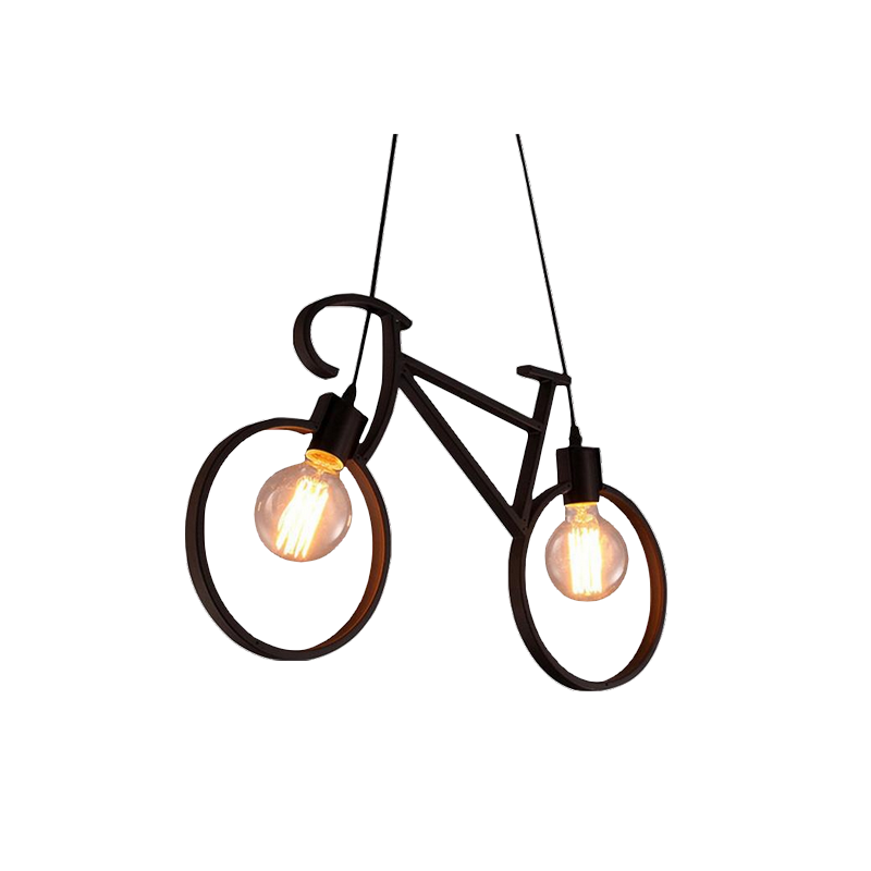 shoppi - Lustre en fer forgé en forme de bicyclette de style moderne