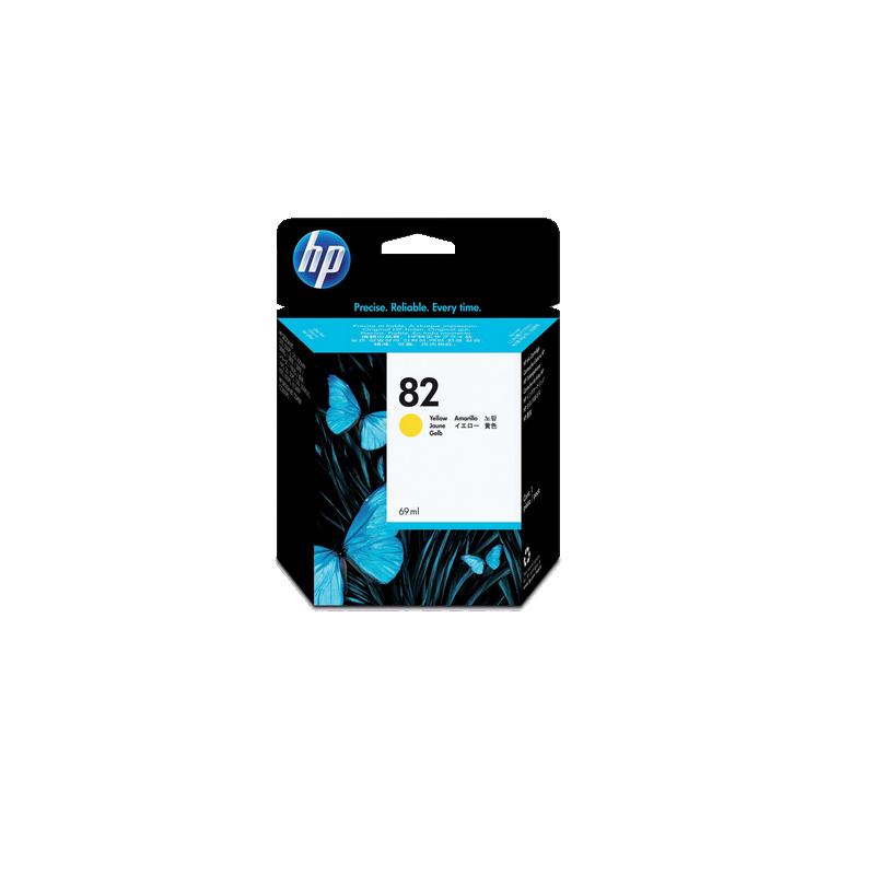 shoppi - HP DesignJet 82 cartouche d'encre jaune, 69 ml