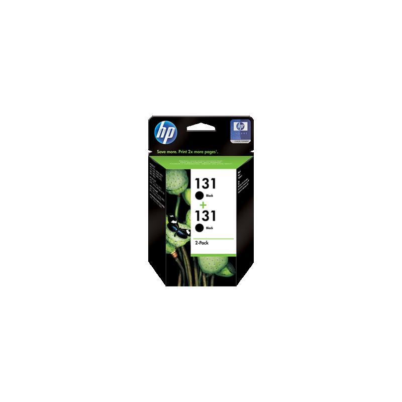 shoppi - Pack de 2 cartouches d'encre noir authentiques HP 131