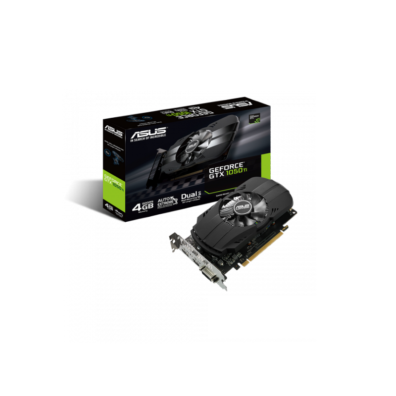 shoppi - Carte Graphique Gamer ASUS Phoenix GeForce GTX 1050 Ti 4GB GDDR5
