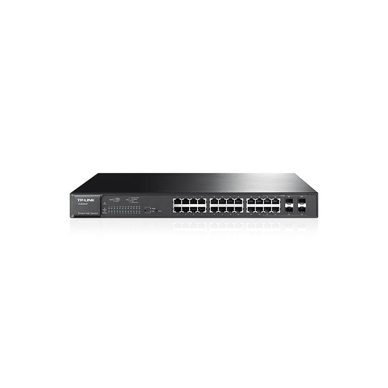 shoppi - Switch TP-LINK 24 ports Gigabit smart PoE avec 4 emplacements combinés SFP