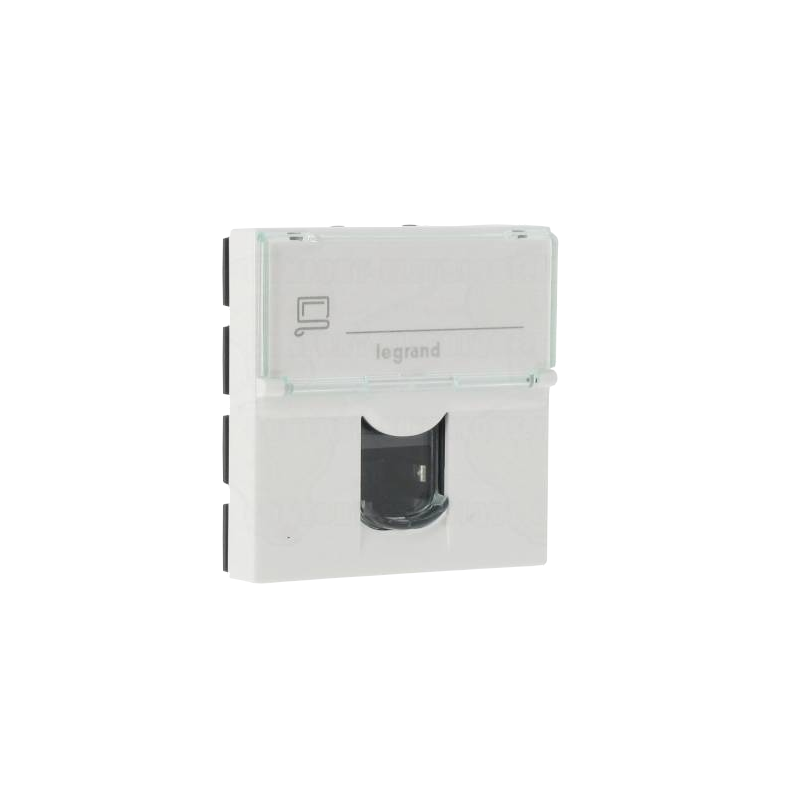 shoppi - Prise RJ 45 Legrand Programme Mosaic Categorie 5e FTP 2 modules