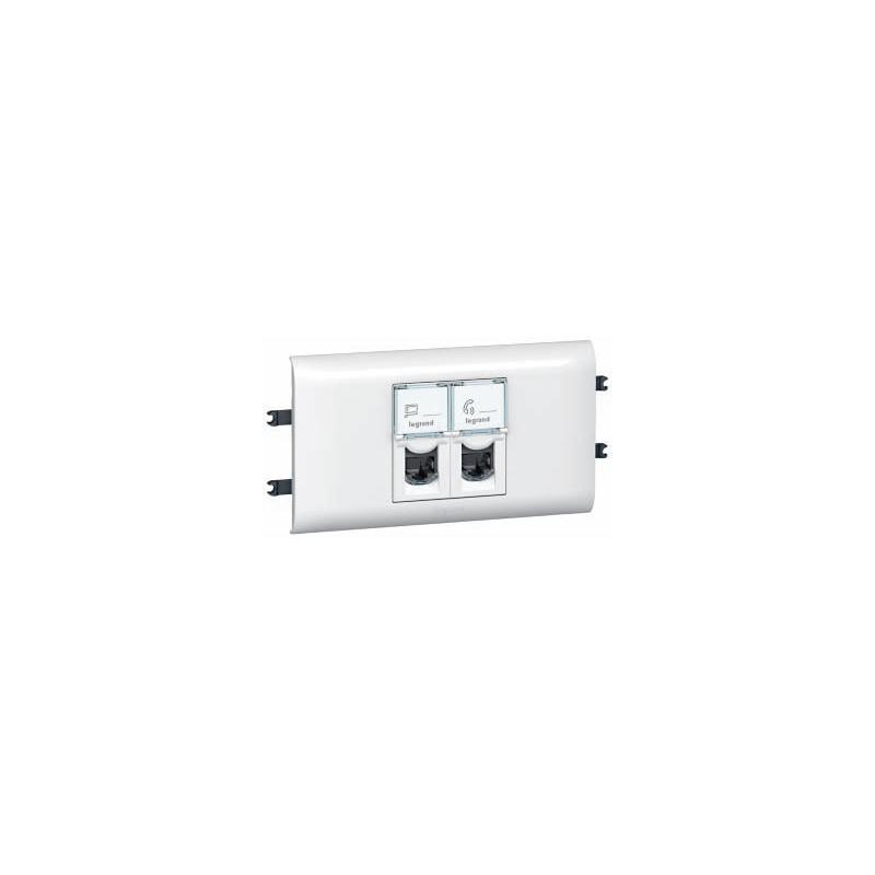 shoppi - Prise RJ45 Legrand catégorie6 FTP Mosaic 2 modules