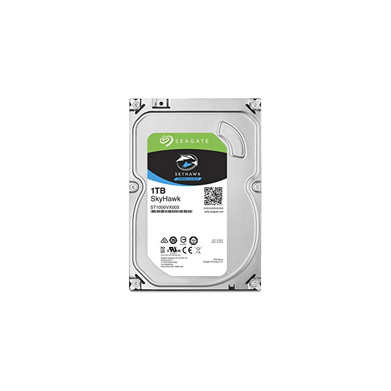 shoppi - Disque dur interne Subservience SEAGATE SkyHawk 1 TB  3,5'', 64 MB Cache, SATA 6Gb/s