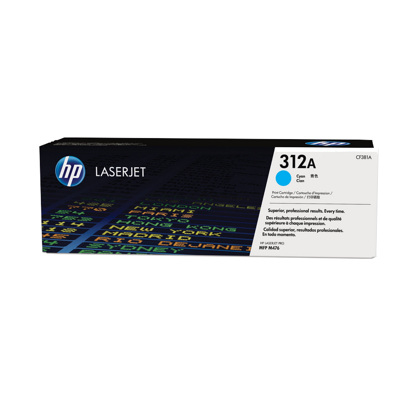 shoppi - Cartouche de toner cyan authentique HP LaserJet 312A