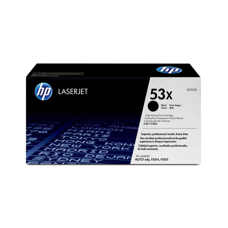 shoppi - HP 53X toner LaserJet noir grande capacité authentique