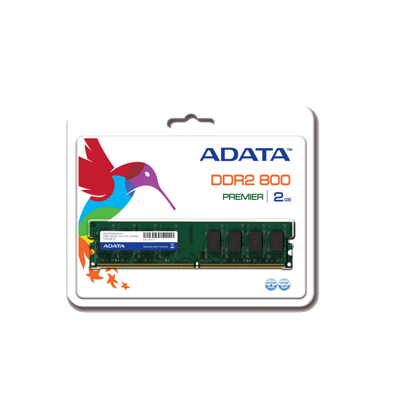 shoppi - Barrette Mémoire ADATA  2GB DDR2 PC2 6400 800mHz