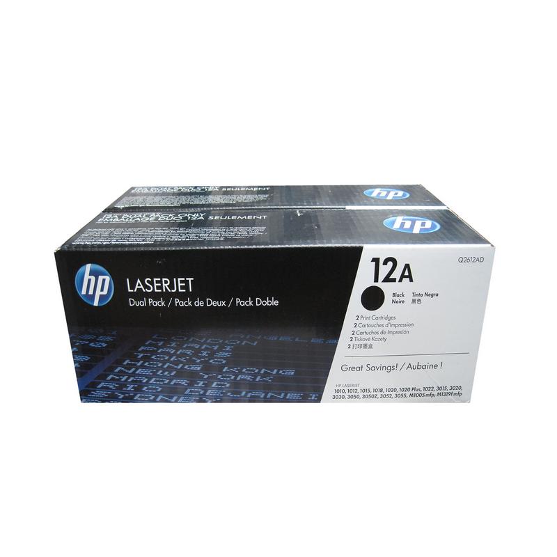 shoppi - Pack de 2 Toner Laserjet 12A HP