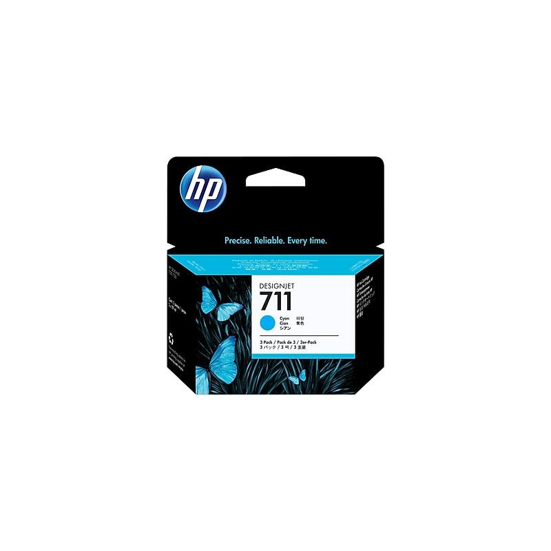 shoppi - Pack de 3 cartouches d'encre cyan HP 711