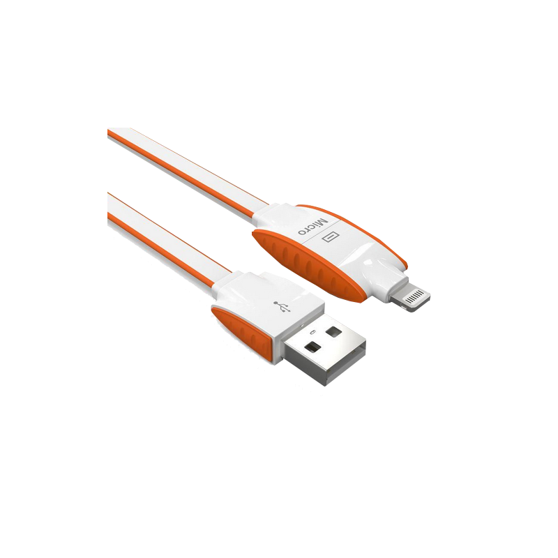 shoppi - Cable Charge & Data LDNIO LC-83 2-IN-1 iPhone 5/6 et appareils Android