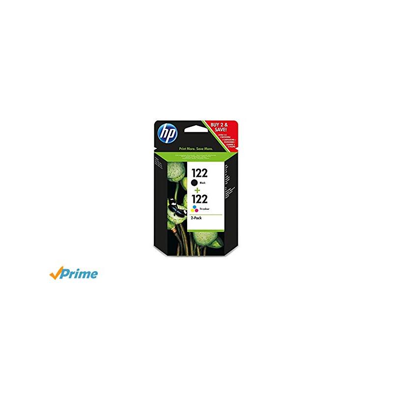 shoppi - HP 122 pack de 2 cartouches d'encre noir/trois couleurs authentiques