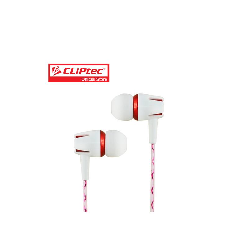 shoppi - Écouteur CLIPTEC White Party avec microphone et contrôleur de  volume