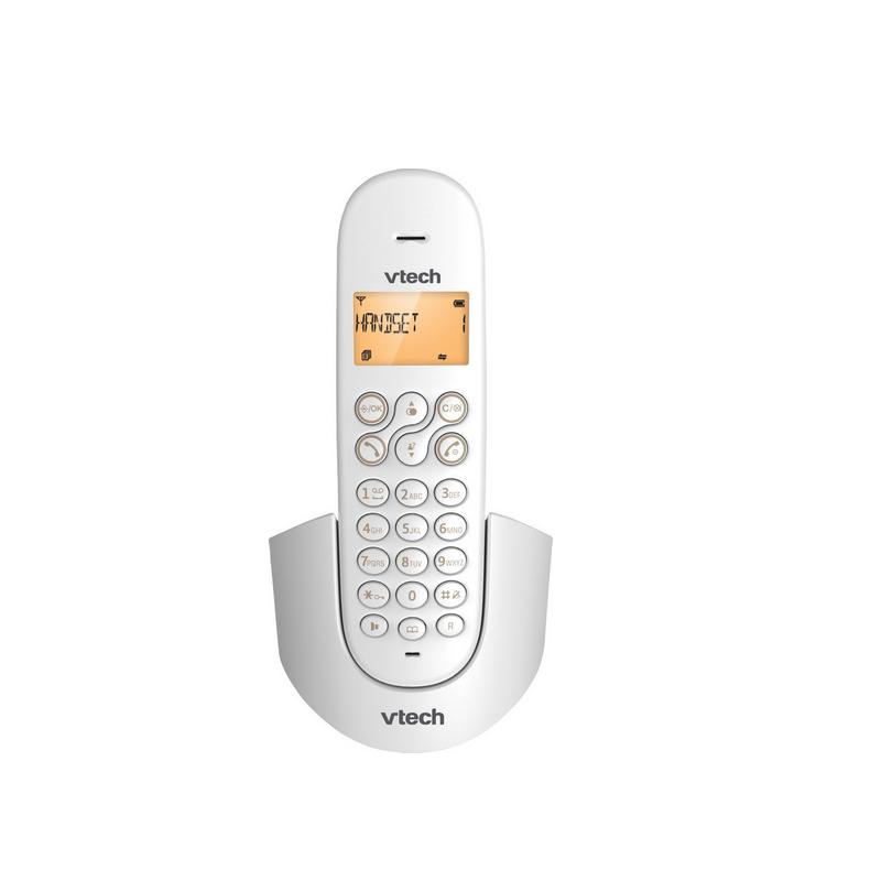 shoppi - Téléphone sans fil DECT Blanc VTech cs1100-O