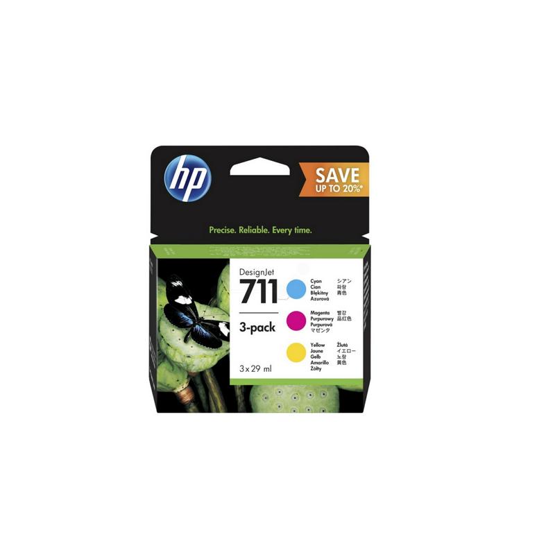 shoppi - Multipack de cartouches d'encre 3 couleurs HP 711