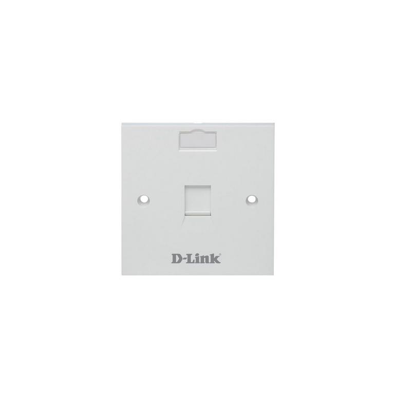 shoppi - Monture pour prise Dlink NFP-0WHI11 Façade simple UTP 6