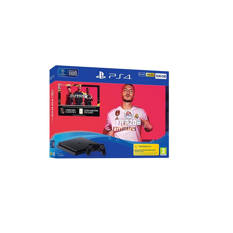 shoppi - Pack Sony Console PS4 Slim 500 Go Noir + FIFA 20