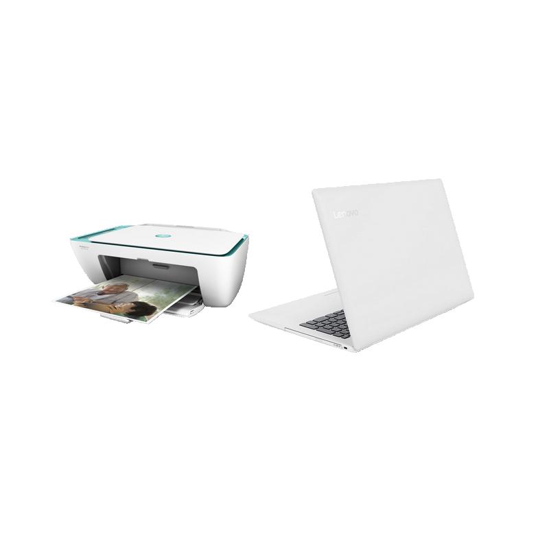 shoppi - PC Portable LENOVO IdeaPad 330  + Imprimante Jet d'encre HP DeskJet 2632 3en1 Couleur WiFi