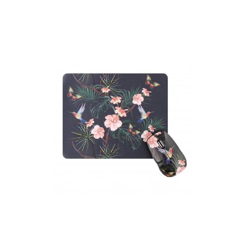 shoppi - Ensemble souris sans fil et tapis de souris AMAZONIE